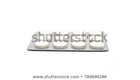 Gyógyít gyomorégés hólyag csomag kék nyitva Stock fotó © tashatuvango