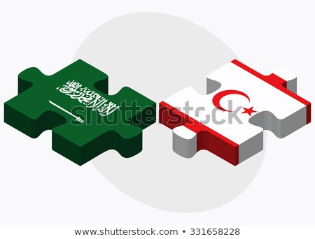 Saudi Arabia and Turkish Republic of North Cyprus Flags Stock photo © Istanbul2009