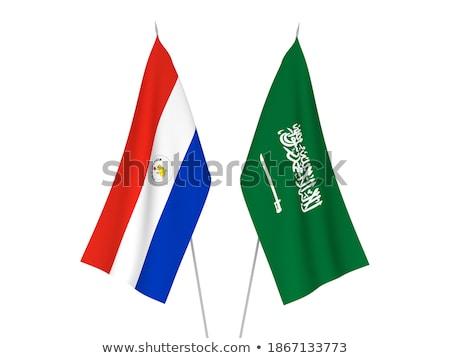 Suudi Arabistan Paraguay bayraklar bilmece yalıtılmış beyaz Stok fotoğraf © Istanbul2009