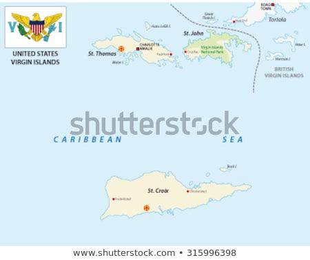 Stockfoto: Verenigd · Koninkrijk · Virgin · Islands · vlaggen · puzzel · geïsoleerd · witte