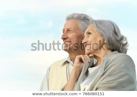 couple · de · personnes · âgées · à · l'extérieur · maison · permanent · femme · Homme - photo stock © paha_l