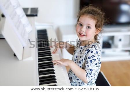 irmão · irmã · jogar · piano · música · feliz - foto stock © feverpitch