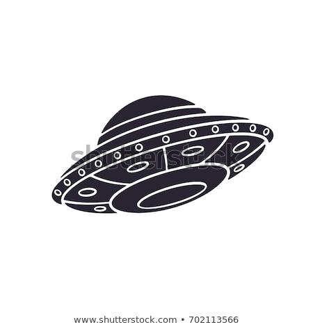 Idegen UFO sziluett illusztráció férfi Stock fotó © adrenalina
