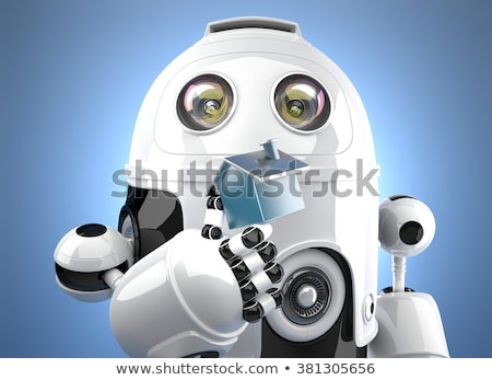 robot · rss · ikon · 3d · render · Internet · web - stok fotoğraf © kirill_m