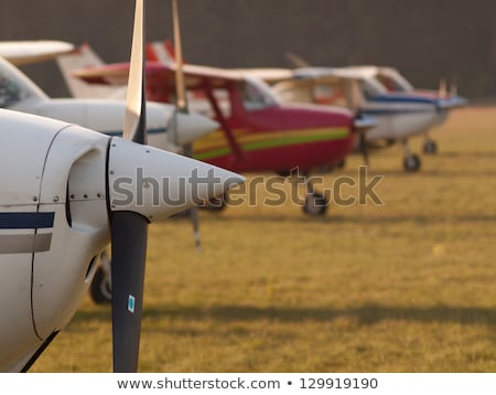 Front of Cessna 172 Single Propeller Airplane On White stock photo © feverpitch