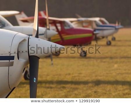 Сток-фото: пропеллер · самолет · белый · изолированный · свет