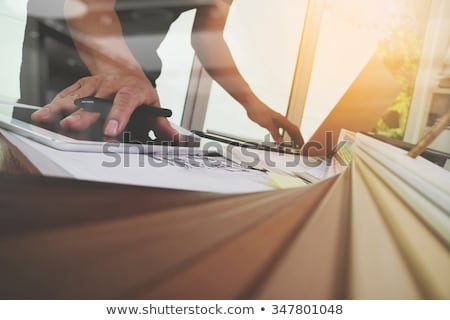 Mintavétel tipikus épület hagyományok kék fehér Stock fotó © Klinker