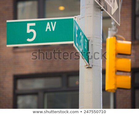 felirat · jelzőtábla · tégla · feliratok · New · York · New · York - stock fotó © rmbarricarte