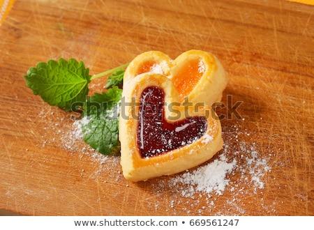 Сток-фото: Heart Shaped Shortbread Cookie