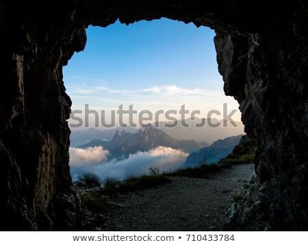 岩 穴 青空 表示 岩 マデイラ ストックフォト © compuinfoto