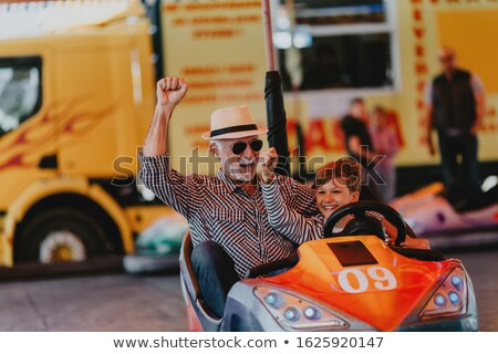 roller coaster driving for kids stock photo © zurijeta