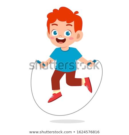かわいい 少年 ジャンプ ロープ 漫画 実例 ストックフォト © Twinkieartcat