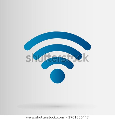 Icons with satellite signals Stock photo © bluering