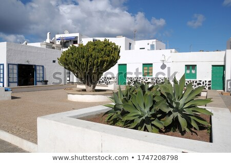ラ · 島 · スペイン · 空 · 水 · 建物 - ストックフォト © meinzahn