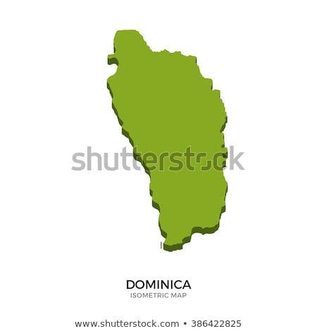 Isometric map of Dominica detailed vector illustration Stock photo © tkacchuk