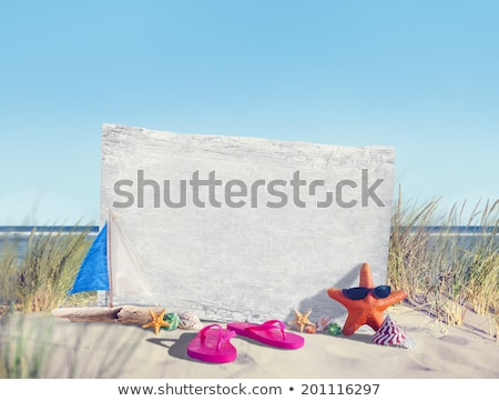 An empty signboard at the beach Stock photo © bluering
