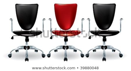 красный удобный мебель Председатель белый фон Сток-фото © bluering