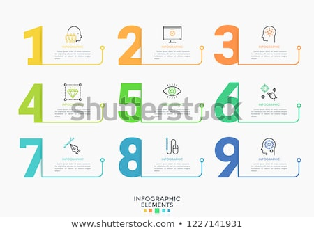Numerical figures and symbols Stock photo © bluering