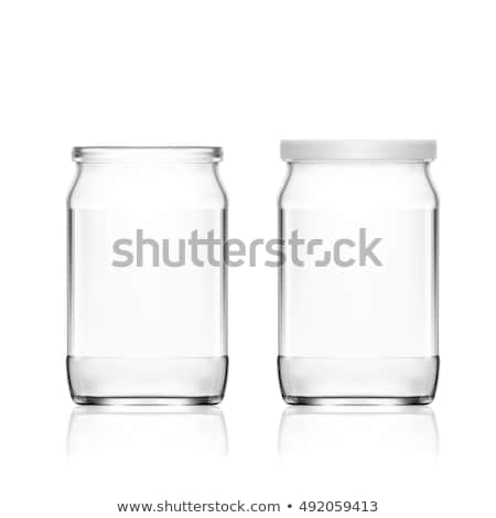 Glass jar with aluminum lid Stock photo © bluering
