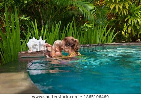 парусного · мальчика · иллюстрация · парусника · воды · морем - Сток-фото © bluering