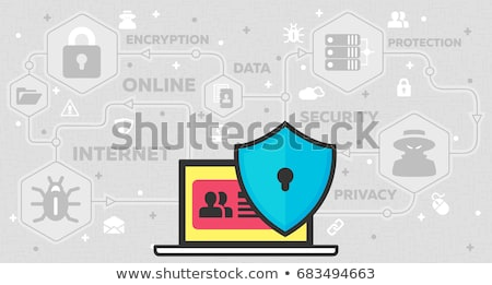 Online Computer Sicherheit ssl Illustration verschlossen Stock foto © H2O