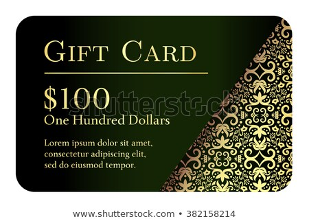 vintage black gift card with golden lace ornament in right corner stock photo © liliwhite