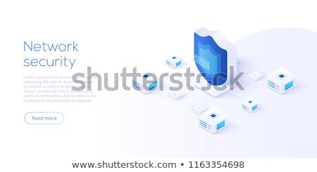 güvenlik · izometrik · phishing · bekçi · bilgisayar - stok fotoğraf © -talex-