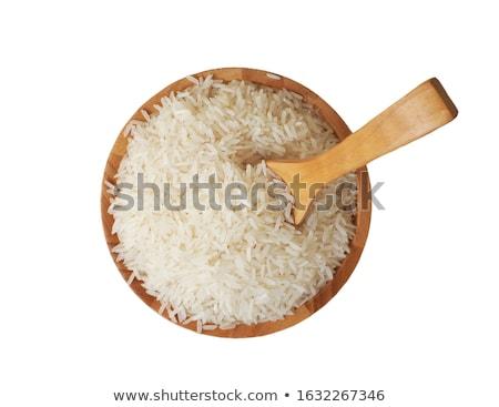 Stock photo: Uncooked Jasmine rice