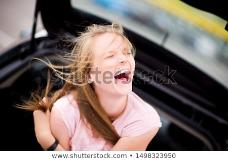 laughing loudly girl Stock photo © ssuaphoto