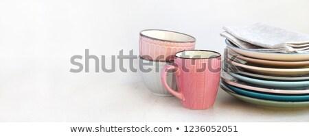 realistico · Cup · mug · set · vettore · bianco - foto d'archivio © day908
