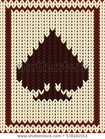 Knitted poker card spade, vector illustration Stock photo © carodi