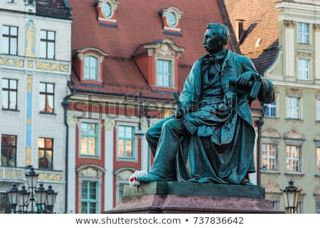 statue of the Polish poet, playwright and comedy writer Aleksand Stock photo © Massonforstock