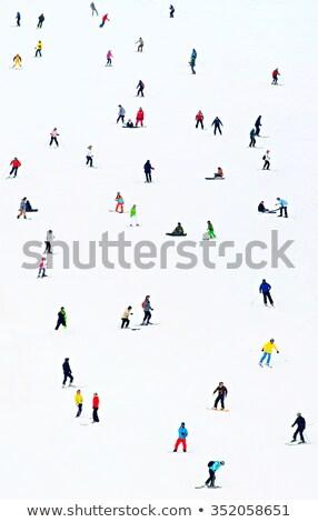 認識できない 山 スキー ストックフォト © stevanovicigor