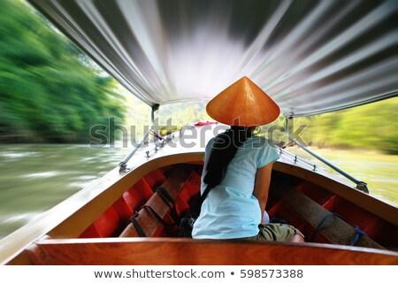 Taxi barcos Tailandia paisaje velocidad río Foto stock © ssuaphoto