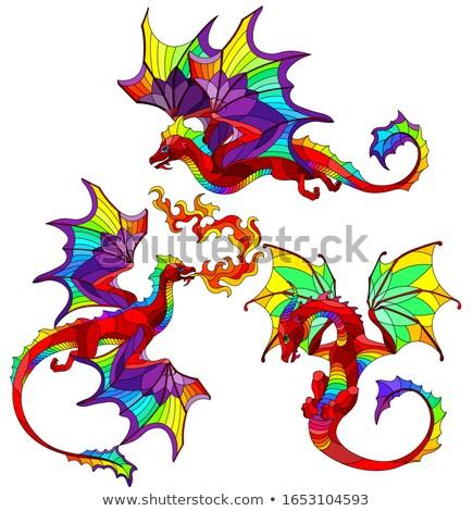 Wings of rainbow dragon Stock photo © blackmoon979