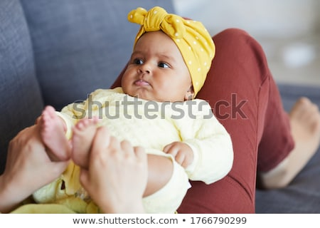 Fekszik kislány gyerekek gyermek biztonság lányok Stock fotó © phbcz