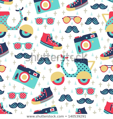 Vector set of various retro colorful seamless patterns Stock photo © blue-pen