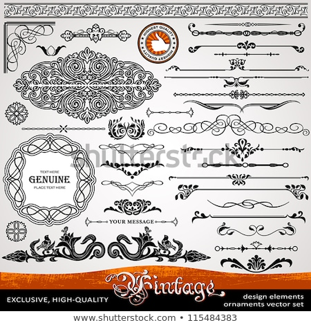 Vintage frames, corners and calligraphic design elements Stock photo © blue-pen
