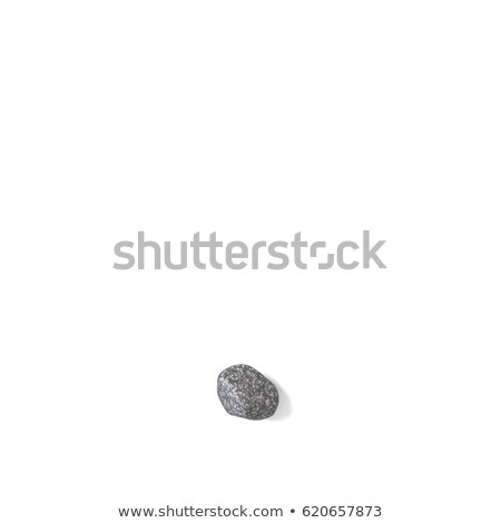 Period punctuation mark made of rocks 3D Stock photo © djmilic