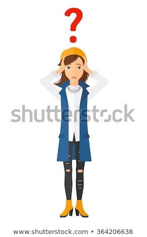 Bankrupt clutching head vector illustration. Stock photo © RAStudio