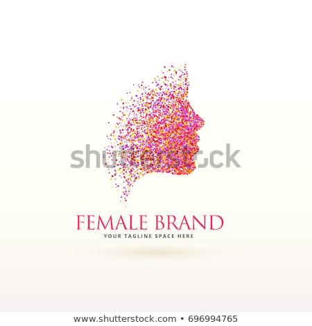 женщину лицом дизайн логотипа феминизм бизнеса девушки цвета Сток-фото © SArts