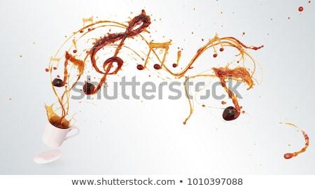 кофе музыку Creative натюрморт музыкальный инструмент саксофон Сток-фото © Fisher