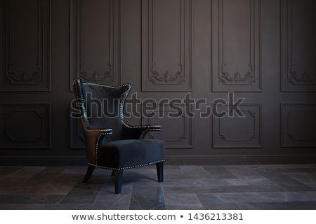 klasszikus · fotel · 3d · render · retro · szoba · öreg - stock fotó © anatolym