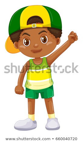 Boy from Kenya in green shorts Stock photo © bluering