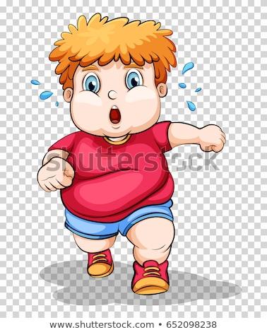 excesso · de · peso · menino · ilustração · fitness · saúde - foto stock © bluering