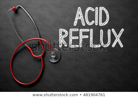 Foto d'archivio: Acid Reflux Concept On Chalkboard 3d Illustration