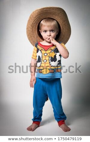 cute little boy sheriff stock photo © lightfieldstudios