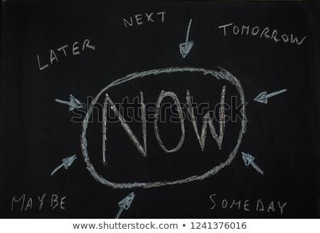 時間 · 今 · ライブ · 現在 · しない · 将来 - ストックフォト © tashatuvango