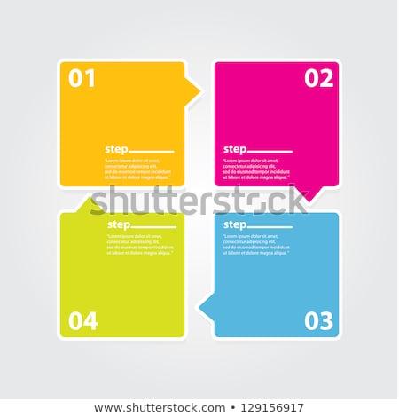 2 colored paper speech bubbles 2 arrows stock photo © limbi007