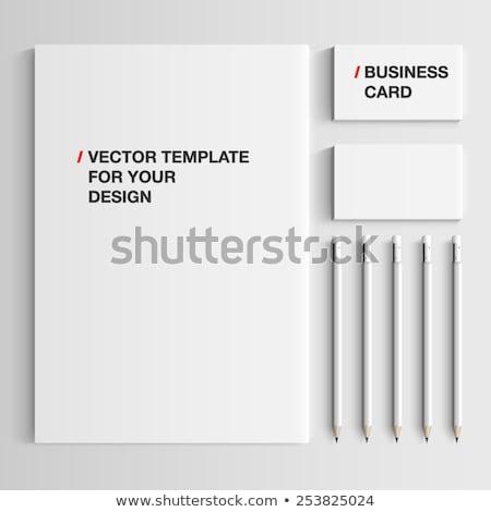 Postar envelope carta papel modelo Foto stock © oblachko